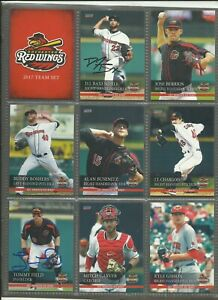 2017 International League Rochester Red Wings 32 card set - 14 autographed
