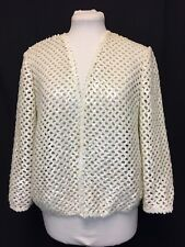 Vintage 1960's White Opalescent Pearlized Sequin Lace Cardigan. Women's. Mint.
