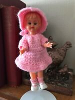 """Vintage 1960s ? Dutch ? Tiny Made in Italy Baby Doll Open and Close Eyes 6"""""""