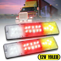 2x 12V 19 LED Feux Arrière Freinage Indicateur Fonction Camion Remorque Caravane