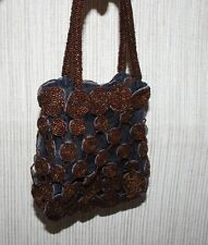 Kaivalya Beaded Dress Purse & Travel Jewelry Brown  Bag