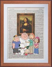Family Guy VS LEONARDO DA VINCI-MONA LISA-pagina di dizionario ART PRINT Gift