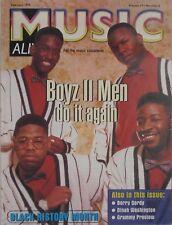BOYZ II MEN February 1998 MUSIC ALIVE! Magazine BERRY GORDY DINAH / WASHINGTON