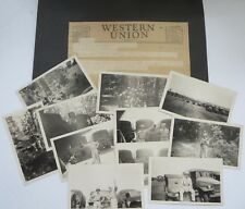 ORIGINAL WORLD WAR 2 PHOTOS  USA W/SCRAPBOOK PAGE