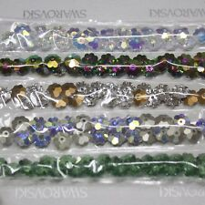 125 pcs Swarovski Crystal 3700 6mm Flower Margarita Lochrose Bead Mixed - Set 1