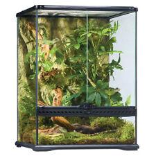 Exo Terra Glasterrarium 45x45x60 cm, mit Kabelkanälen, inklusive Hintergrund.