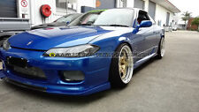 s15 silvia carbon fiber fiberglass front lip -body kit gt spoiler wing skirt bar
