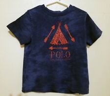 Polo Ralph Lauren Boy'sShort Sleeve T Shirt, Tie Dye Blue, Size 4/4T