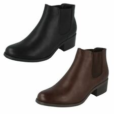 Block Heel Pull On Synthetic Boots for Women