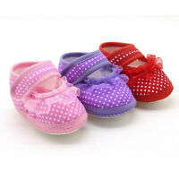 Newborn Toddler Baby Girl Dot Lace Soft Sole Prewalker Warm Casual Flats Shoes