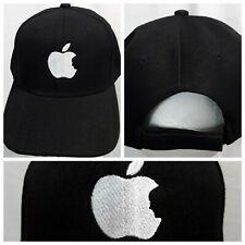 Apple Black Cap Steve Jobs Mac Hook And Loop Closure Hat