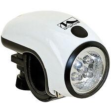 Faro Frontale Bicicletta 8 LED Luce Lampada Mini Torcia M-Wave Apollon