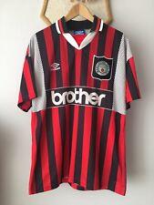 MANCHESTER CITY 1994 1995 1996 AWAY FOOTBALL SOCCER SHIRT JERSEY UMBRO MAGLIA