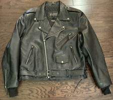 Vintage Wilsons Open Road Full Zip Lined Leather Motorcycle Jacket Coat Mens XL