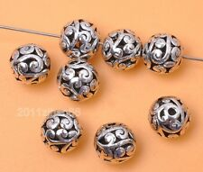 20pcs Tibetan Silver Charm Jewelry Findings hollow bead spacer beads 10mm