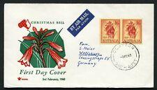 Australia 1960 1/6 Flower pair - Royal Fdc