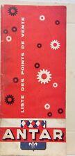 1963 HUILE ESSENCE ANTAR   LISTE DES POINTS DE VENTE