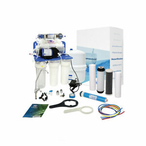 AquaFilter 7 Stage Reverse Osmosis System with pump 75GPD  for drinking water