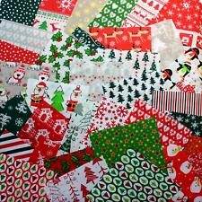 "Wow! Christmas fabric bundle of 20 assorted pieces  5"" square"
