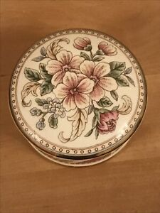 Falcon China Staffordshire Floral Trinket Box In Lovely Condition