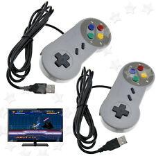 Game USB Wired Controller Joypad Gamepad for SNES Super Nintendo PlayStation