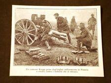 WW1 Grande guerra 1914-1918 Cannone Krupp preso da Inglesi Francia vs tedeschi