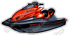 "Jet Ski Water Sports Wave Runner WaveRunner Car Bumper Vinyl Sticker Decal 5""X4"""