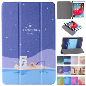 """For iPad 5/6/7/8th Gen Air 3 4 Pro 10.5"""" 11"""" Leather Flip Smart Stand Case Cover"""