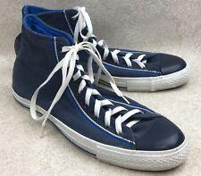 Mens 11 Converse All Star High Hi Top Sneakers Blue Canvas Shoes Chuck Taylor