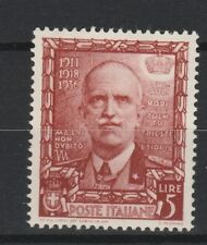 FRANCOBOLLI - 1938 REGNÒ IMPERO POSTA ORDINARIA L. 5 MLH Z/7539