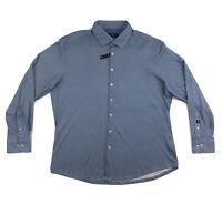 Stone Rose Blue Button Down Shirt Mens Size 6 XXL Long Sleeve