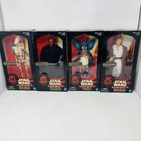 """Star Wars Episode 1 12"""" Collection Obi-Wan Kenobi Watto Darth Maul Battle Droid"""