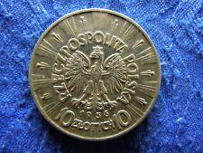 POLAND 10 ZLOTYCH 1936, KM29