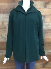Gallery Winter Coat Parka Jacket Green Womens Size Small Polyester Hoodie