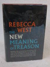 Rebecca West  THE NEW MEANING OF TREASON  Viking Press  c. 1964 HC/DJ