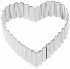 Kitchen Craft Small Fluted Heart 5cm Biscuit, Pastry, Cookie Cutter