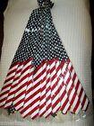 "12 US Patriotic American Flag Red,White,Blue Unisex Men's Tie Necktie 57""Lx 3""W"