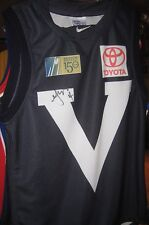 "CARLTON - Chris Judd signed Victorian ""Big V"" jersey + photo proof & COA"