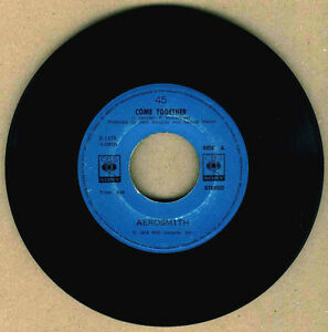 "PHILIPPINES:AEROSMITH - Come Together,7"" 45 RPM,RARE,BEATLES COVER,Sgt.Pepper's"