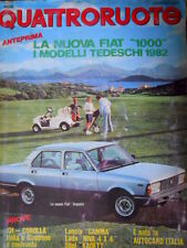 Quattroruote 308 1981 Nuova Fiat Argenta. Prove Lancia Gamma, Opel Kadett [Q75]