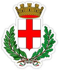 Italia Milan Citta di Milano stemma emblema simbolo etichetta sticker 9cm x 12cm