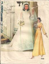 Vintage Vogue Bridal Design Sewing Pattern 1488 Size 12