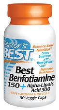 Best Benfotiamine 150 + Alpha Lipoic Acid 300 - Doctor's Best - 60 Veggie Caps