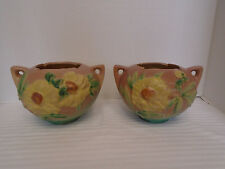 2 Roseville Pottery Peony Pink Bowl 427-4