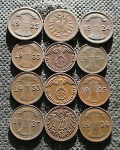 LOT OF OLD COINS OF GERMANY (EMPIRE-WEIMAR REPUBLIC-THIRD REICH) - MIX 734