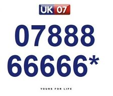 07888 66666* Numbers - Gold Memorable Platinum VIP Numbers, Yours For Life