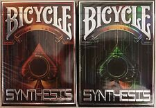 Synthesis 2 Deck Set Bicycle Playing Cards Poker Size USPCC Albino Dragon Sealed