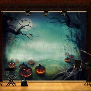 AU 5x7FT Halloween Pumpkin Studio Photography Background Backdrop Wall Props