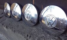 VW Volkswagen Genuine Center Hub Caps - 6 '' Inches -  Set of 4 - Vintage