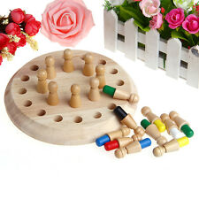 Kids Children Wooden Memory Match Stick Chess Game Educational Intelligent Toys